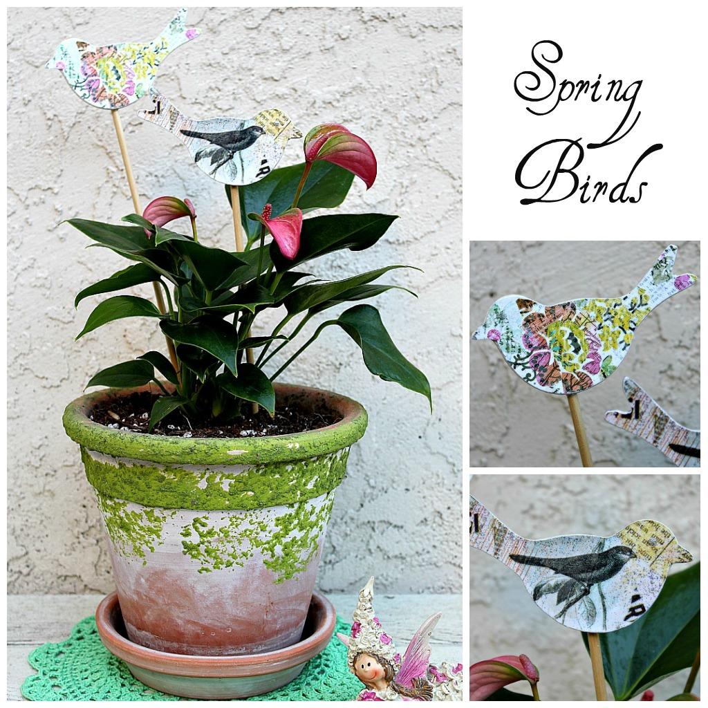 spring birds craft   flowerchildau