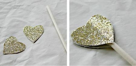 glitter hearts