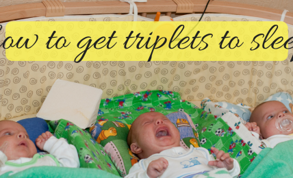 how to get triplets to sleep